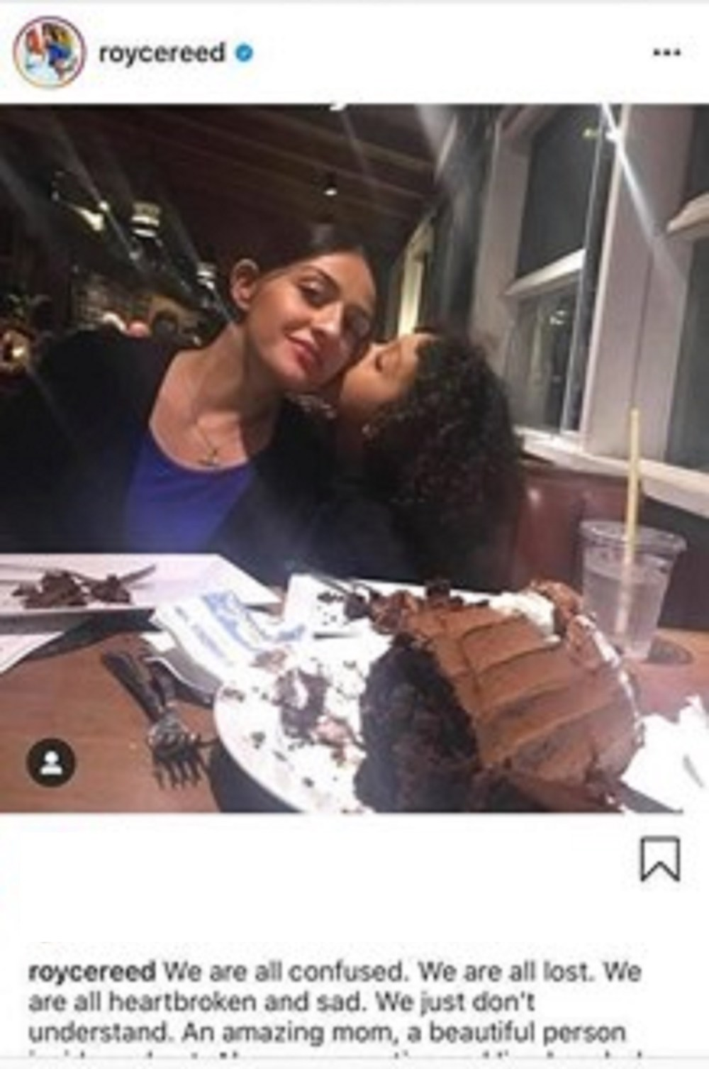 Royce Reed makes Instagram post in honor of Melissa Rios, the mother of her son's brother. Yesterday, Dwight Howard confirmed rumors of Rios' death. The young woman died of a seizure, leaving behind her six-year-old son.