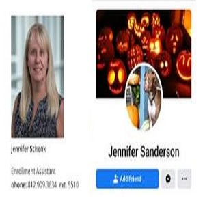 "Jennifer Schenk, aka Jennifer Sanderson, is an enrollment manager at Indiana Tech University. On her personal Facebook page, Jennifer has had choice words for the protesters. Lumping the protesters in with the rioters and looters, she said they won't be done, until they clean out the Nike store, referred to them as ""sh*tstains,"" and said they probably don't even know the ""dead guy's"" name, which is George Floyd."