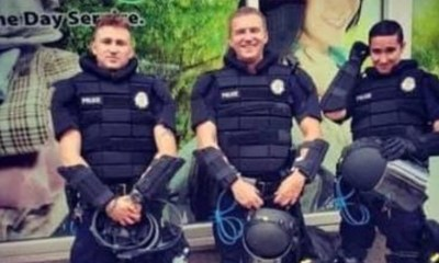 """Tommy McClay, a Denver police officer, makes fun of the protests, with his Instagram post. He took a photo with two other officers, but was controversial with his caption. This caption reads """"let's start a riot,"""" making light of what is going on around the country."""