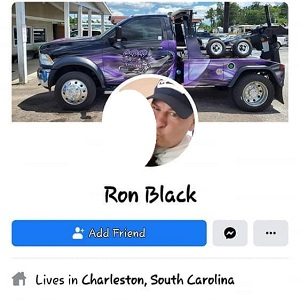 "Ron Black, the owner of CBR Towing, Inc., in Charleston, South Carolina, admitted to being a racist. He got into an argument with a woman, inboxing her. First, he called her a ""n*gger lover,"" and then went onto say many cruel things about black people, calling them grease monkeys, admitting to being racist, and told the woman that if she lived in America, being around ""these black people"" would make her racist, too."