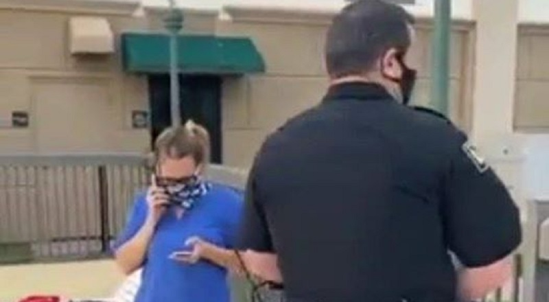 "Black woman shares video of ""Hotel Karen"" harassing her, at Williamston, North Carolina hotel, Hampton Inn Hilton. The woman says she is on a business trip and stayed at that hotel. Enjoying the summer day, she was watching her children play in the pool, when the woman working at the hotel asked her if she was staying at the hotel, because ""people like her"" were going to the hotel and using the pool, without actually staying at the hotel. After the woman said she was, the hotel worker still called the police on her, and she pulled out her key to show the police officers, who still went onto run her tags, and even threatened to arrest her, despite knowing she was staying there, with the hotel worker going onto ask her for her room number."