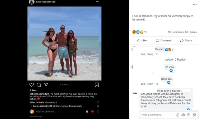 """Brett Hankison is currently on vacation, as his wife shared on Instagram. Given the smile on his face, no one would guess that he killed an innocent person, less than six months ago, but he was one of the officers involved in Breonna Taylor's murder, who got off scott free. Meanwhile, Porsha Williams, of """"The Real Housewives of Atlanta,"""" was arrested, in Atlanta, this afternoon for a peaceful protest in honor of Breonna Taylor."""