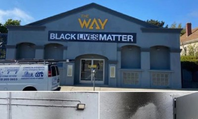 Michael McBride, of Berkeley, California, shared photos of his church, on Facebook. This wasn't a happy moment, though, McBride was highly upset. So much for respecting the church, as an arsonist tried to burn his church, The Way Christian Center, after they posted #BlackLivesMatter on the front of their building.
