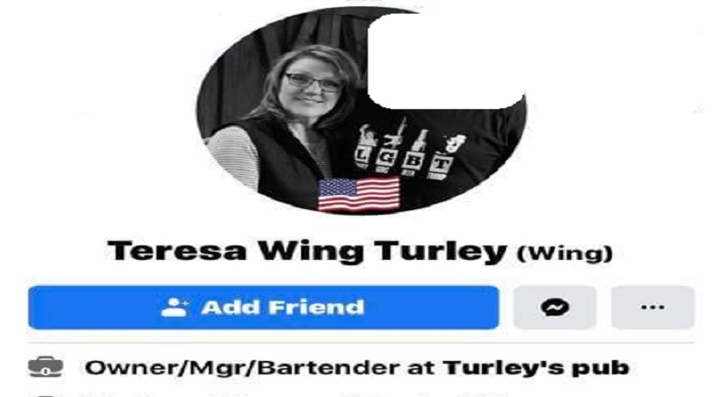 """Teresa Wing Turley is a local business owner, in Powers Lake, North Dakota, where she is the owner of Turley's Pub. Turley even works in her bar, where she serves as bartender. Recently, Teresa Wing Turley ranted about black people, calling them """"wild monkeys,"""" saying they should be shot, adding that they should be shot dead."""