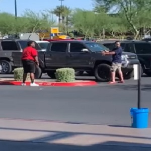 Steven Nowak shared a video on Facebook of two men who got into an altercation. On the video, all that was shown was a white man pointing a gun at a black man, cocking it several times, as the black man hurled insults and slurs at him, egging him onto shoot him. Meanwhile, a man wearing a mask tried to break things up, as onlookers watched. An eyewitness claims the fight broke out, due to the black man nearly running the white man over and, instead of simply talking, jumping out of his vehicle to immediately begin screaming and cursing.