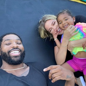 """Khloe Kardashian and Tristan Thompson are apparently back together. With their baby, True Thompson, the couple traveled to Turks and Caicos for Kylie Jenner's 23rd birthday. The two were looking very cozy and Khloe's IG Story says """"not a secret, just none of your business."""""""