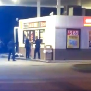 In Lafayette, Louisiana, a black man was holding a knife, walking down the street. Soon, the police arrived, and began tasering the man, following him, as the taser didn't have an impact on him. As the man walked towards a gas station, the police officers opened fire, shooting him several times, killing him, and three officers stood over his body. Witnesses say that there were over ten police officers harassing the man.