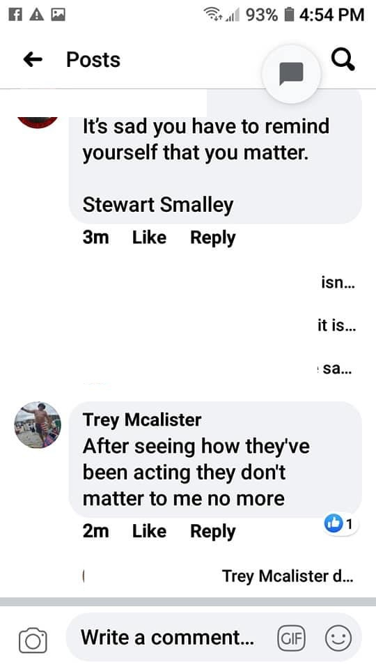 Trey Mcalister is the owner of McAlister Concrete Plumbing and he has very strong opinions. Apparently, Mcalister and his Facebook friends were commenting on a Black Lives Matter article. One person mocked the name of the group, while Mcalister said black lives don't matter to him, anymore, after seeing how they (black people) have been acting.