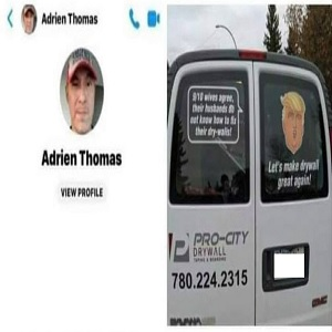 Adrien Thomas' Facebook profile, along with a very disturbing message, have been shared across the social network for nearly a month. Thomas is the owner of Pro-City Drywall, in Edmonton, Canada, and he is being accused of human trafficking. On Facebook, a message, allegedly from him, states that he makes $20,000 a month selling Indigenous (Native) kids, after kidnapping them.