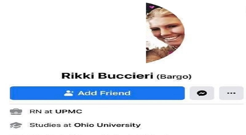 "Rikki Buccieri is a RN at UMPC and recently was commenting, on Facebook. Apparently, this was in response to a news article about another stimulus/unemployment. Buccieri, a nurse, complained in the Facebook comments about nurses not receiving any benefits, due to being essential workers, and mocking the renters complaining about eviction, citing the unemployment and stimulus, before saying don't get her started about the ""blacks"" who are ""making whites racist that never were."""
