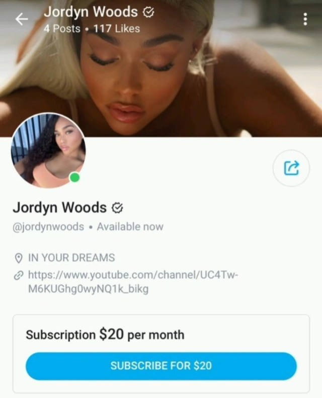 Jordyn Woods has become the latest person to join OnlyFans. The past year has seen her become a sex symbol, often shutting social media down. Now, for $20 a month, fans can check her out on OnlyFans.