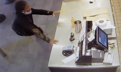 DC woman food fight Chipotle