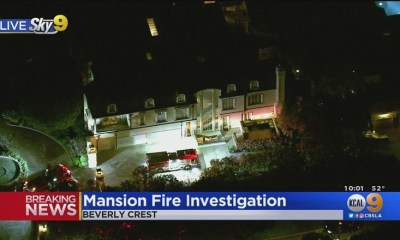 Denzel Washington home reports of fire in Beverly Crest, California.
