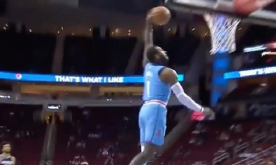 John Wall first dunk as Houston Rocket