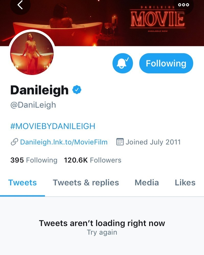 DaniLeigh deletes Twitter