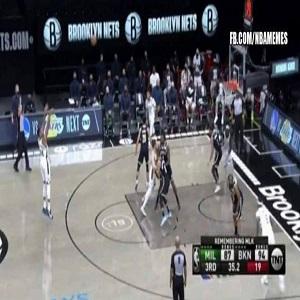Giannis airball three vs Nets