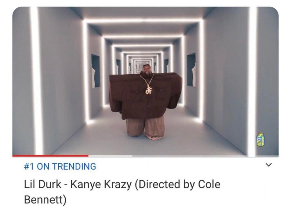 Lil Durk Kanye Krazy number one trending YouTube