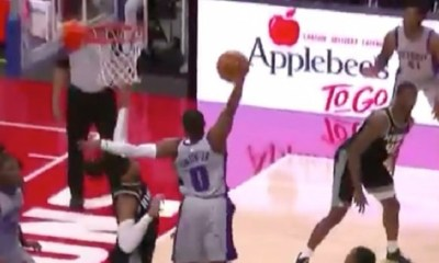 Dennis Smith Jr. dunks on Sacramento Kings
