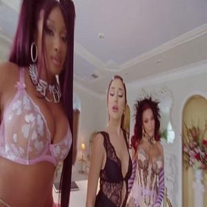 Megan Thee Stallion Doja Cat Ariana Grande 34+35 music video