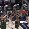 Rudy Gobert dunks on Giannis
