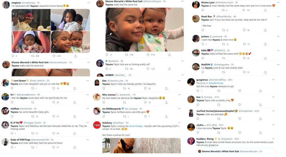 Teyana Taylor child daughters family Twitter