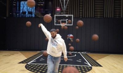 Drake Shooting Basketballs
