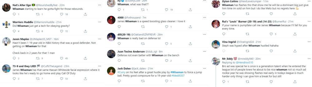James Wiseman superstar trending Twitter