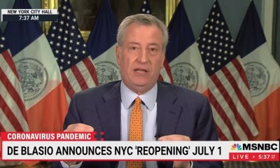 Bill de Blasio New York City July 1 reopen
