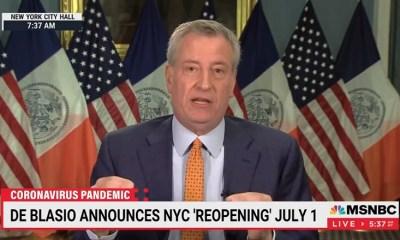 Bill de Blasio New York City July 1 reopen