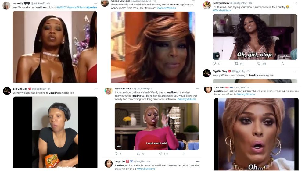 Joseline Wendy chose violence Twitter