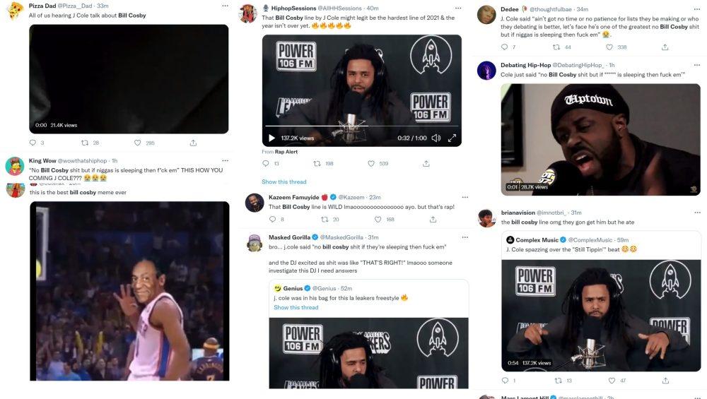 Bill Cosby J. Cole LA Leakers freestyle Twitter