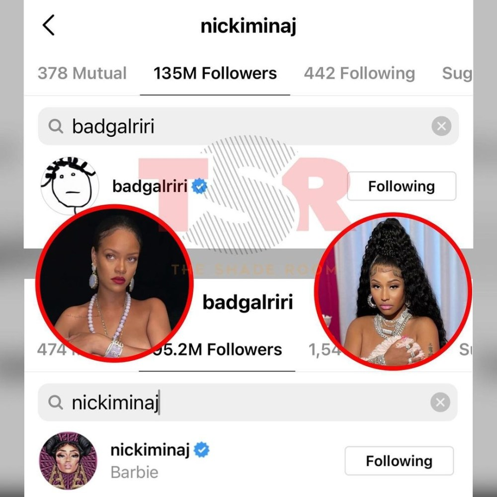 Nicki Minaj Rihanna Instagram