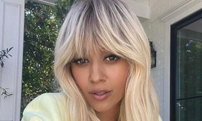 Tia Mowry platinum blonde hair