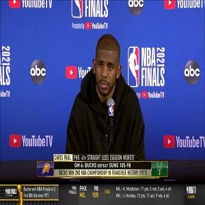 Chris Paul talks Suns losing NBA Finals to Bucks