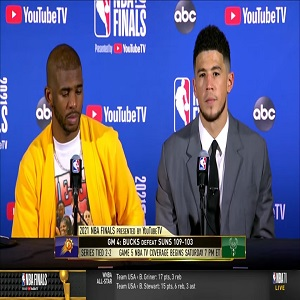 Devin Booker and Chris Paul post game interview after Game 4