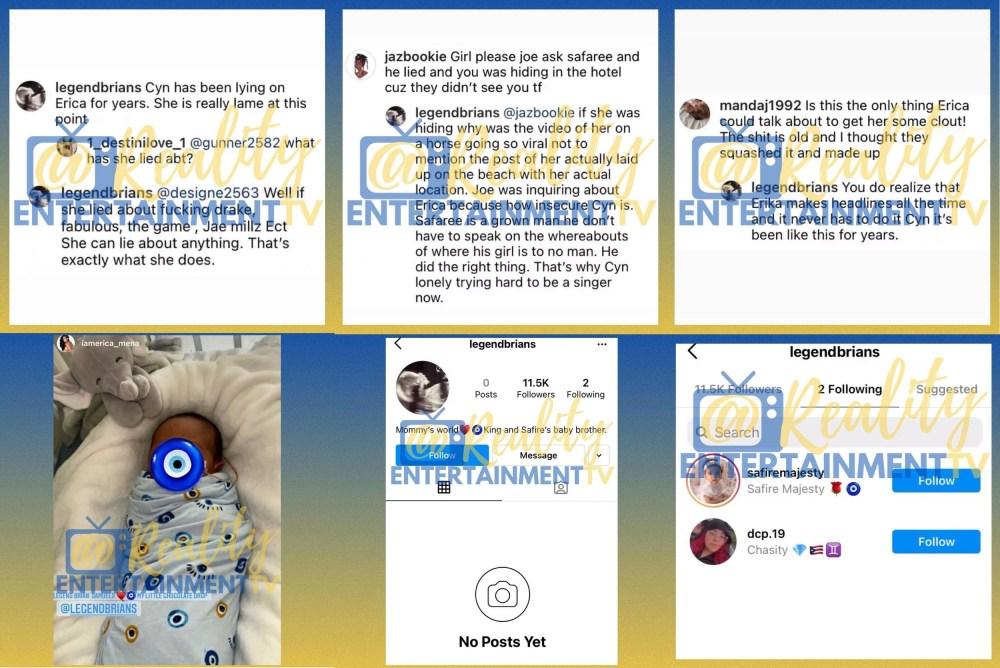 Erica Mena used burner account to troll Cyn Santana
