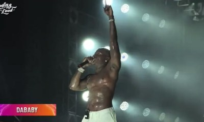 Fan throws a shoe at DaBaby during Rolling Loud performance