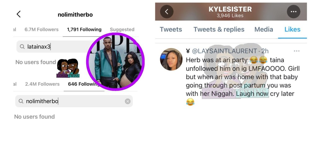 G Herbo partied with his ex Ari and Taina unfollowed him