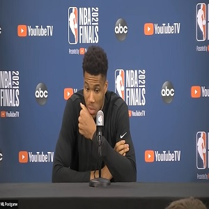 Giannis postgame interview Game 5 of 2021 NBA Finals