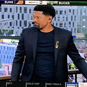 Jalen Rose trends on Twitter because of his hair
