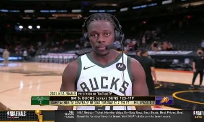 Jrue Holiday talks Bucks' Game 5 win over Suns in 2021 NBA Finals