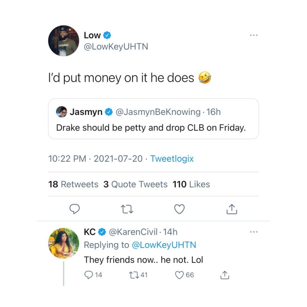 Karen Civil says Kanye West and Drake are friends