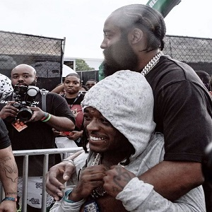 Lil Uzi Vert and James Harden piggyback photo goes viral as Twitter calls them gay