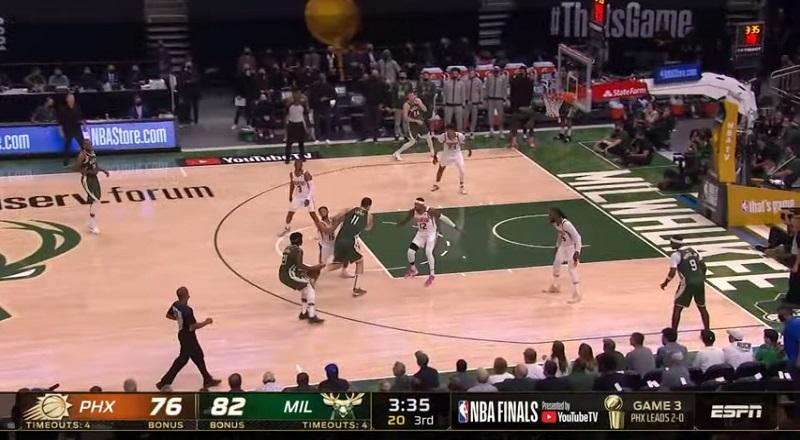 Milwaukee Bucks beat Phoenix Suns in Game 3 of 2021 NBA Finals