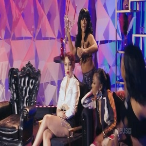 Joseline throws candle holder at Big Lex