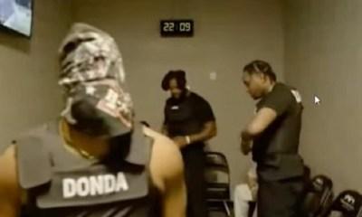 Kanye West dressed as a prisoner while finishing album