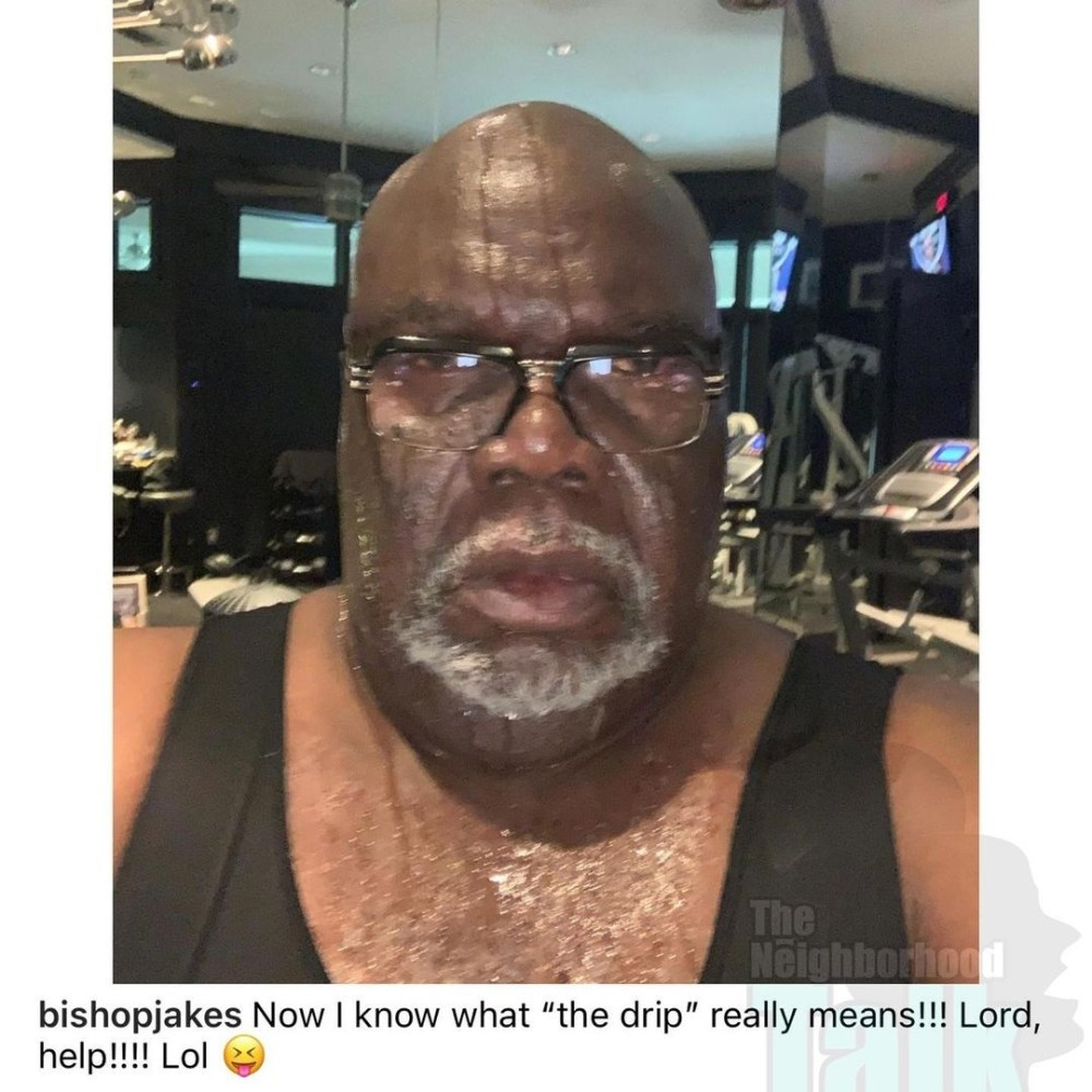 TD Jakes goes viral for posting photo of himself sweating on Instagram