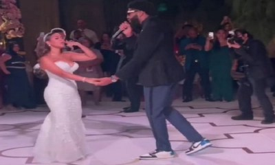 Anthony Davis marries Marlen P and sings to his wife at their wedding reception