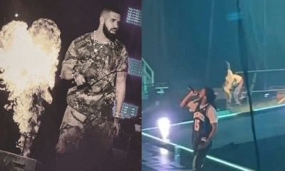 Drake clowns 21 Savage, after he almost falls during concert, calling him agile