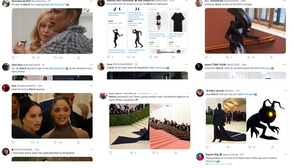 Kanye West and Kim Kardashian attend Met Gala together and fans clown Kim's outfit on Twitter